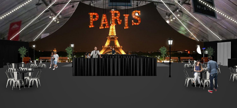 Custom Marquee Letters Paris Graphics