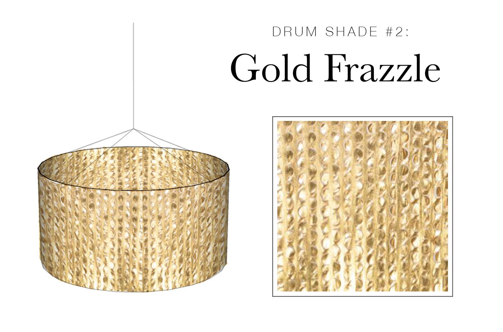 Drum Shade #2: Gold Frazzle