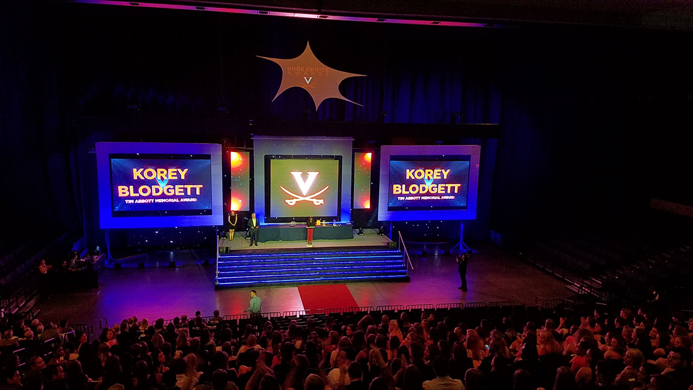 LED Video Panel Wall . UVA Hoos Choice Awards . John Paul Jones Arena Charlottesville