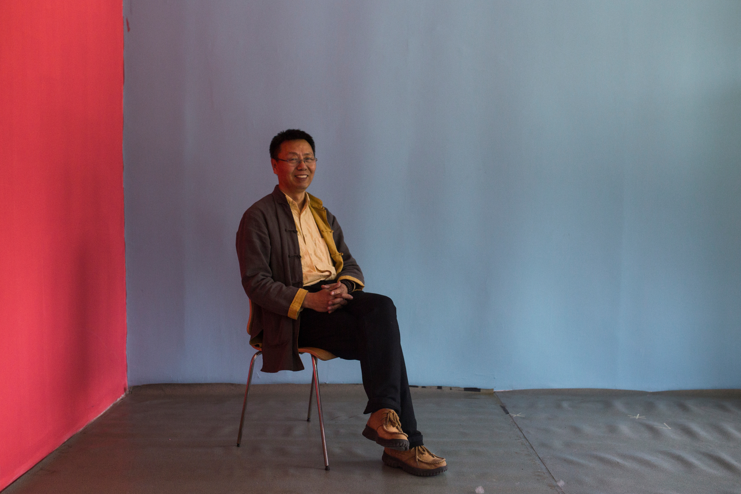 "Wang Dawei, co founder of Hongdandan, Beijing April 2017  ""Disability is in the environment, not the person. If you adapt the environment then the disability disappears."" Hongdandan is a Beijing based NGO developing audio commentary technology for educational and cultural support for the visually impaired in China."