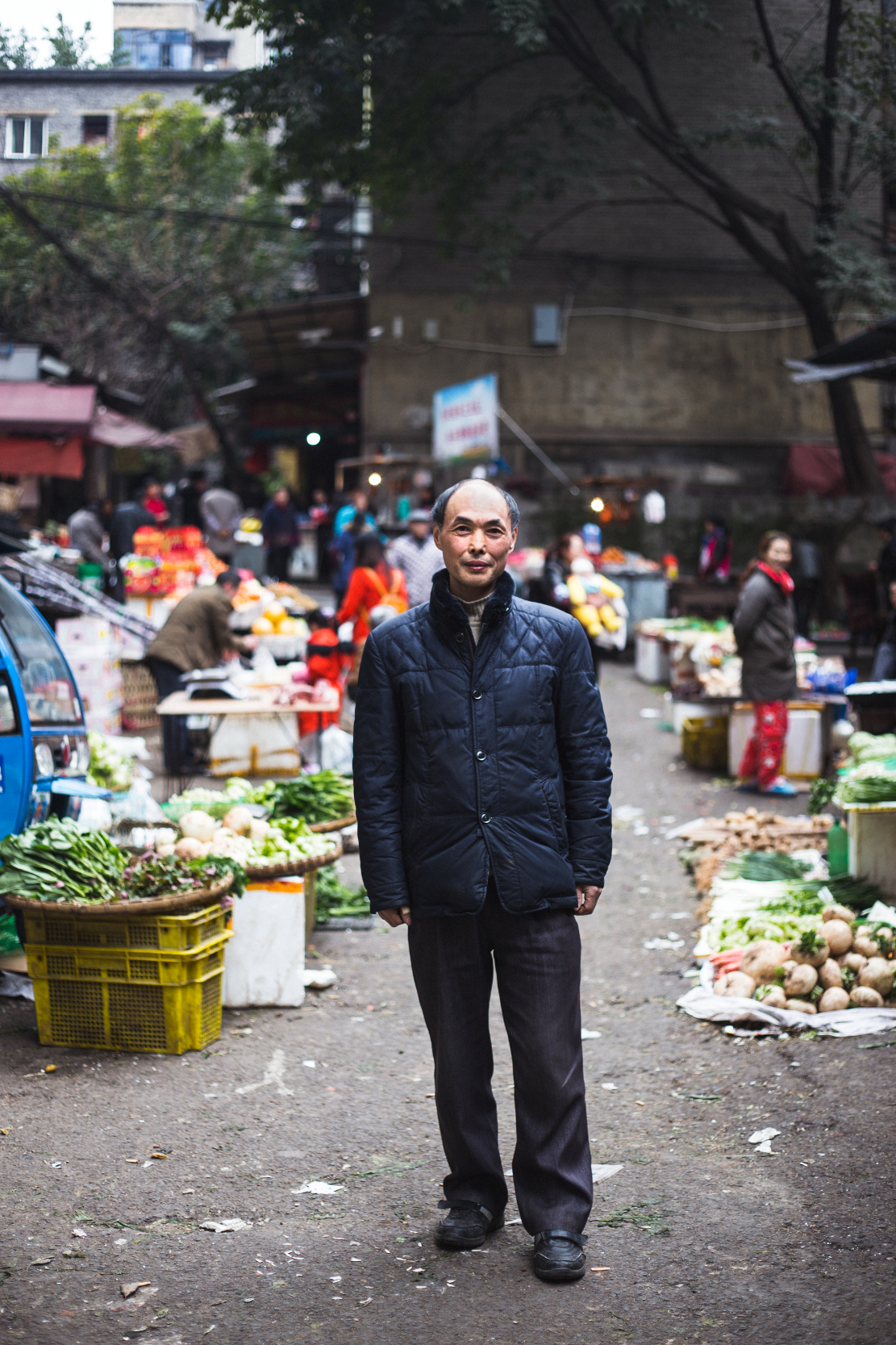 """For now at least, I'll be staying here. Everything just works better in the city, employment, healthcare provision, education. For me to go back would require huge developments like this in the countryside.""  Qing Gumao, Chongqing February 2017"