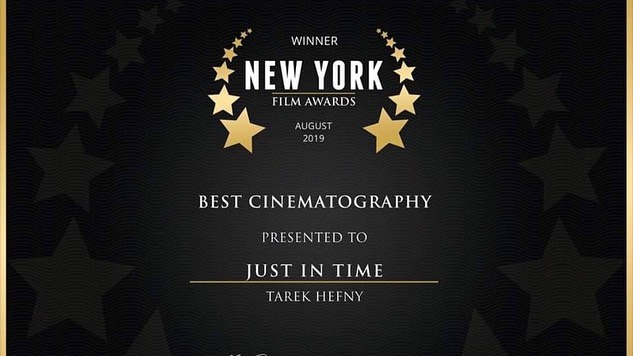 Super stoked for this award! 🏆🎥 I'm always happy to be a partner in crime with @triplemartiniprod on cool projects that get us to work with awesome people like @okristio @jacksongeorge96 . #cinematography #bestcinematography #award #film #bar #shortfilm #justintime #nyfilmawards #filmmaking