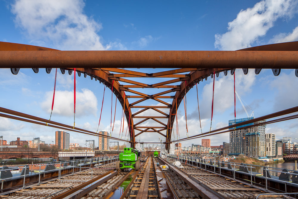 Ordsall Chord Bridge under Construction