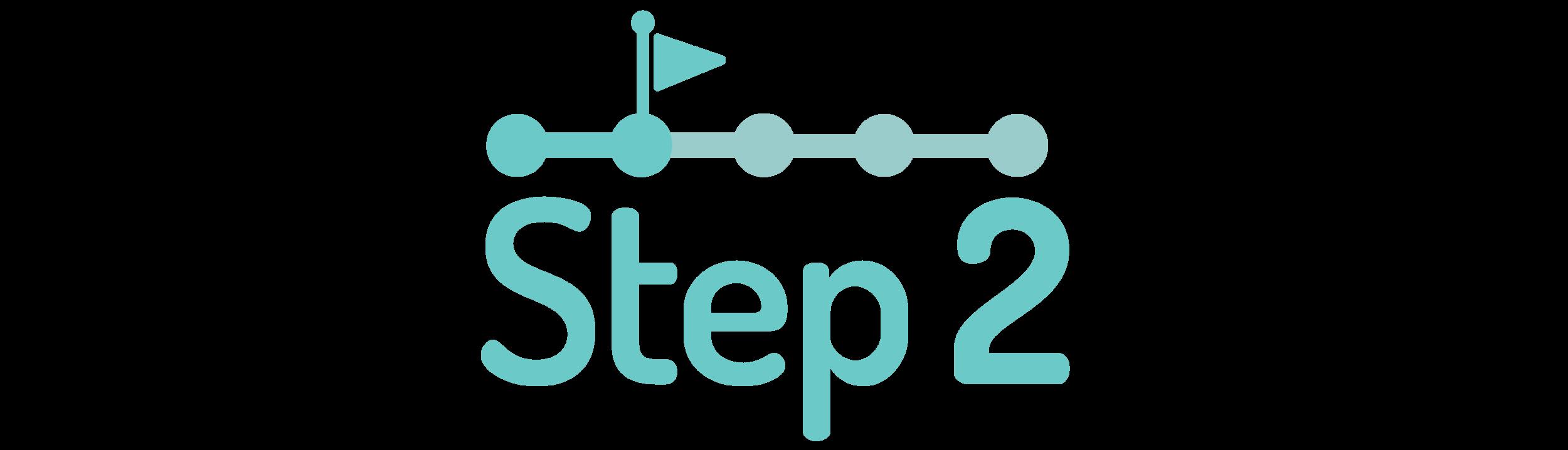 graphic symbolizing step two