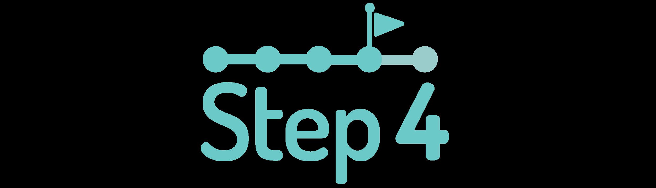 graphic symbolizing step four