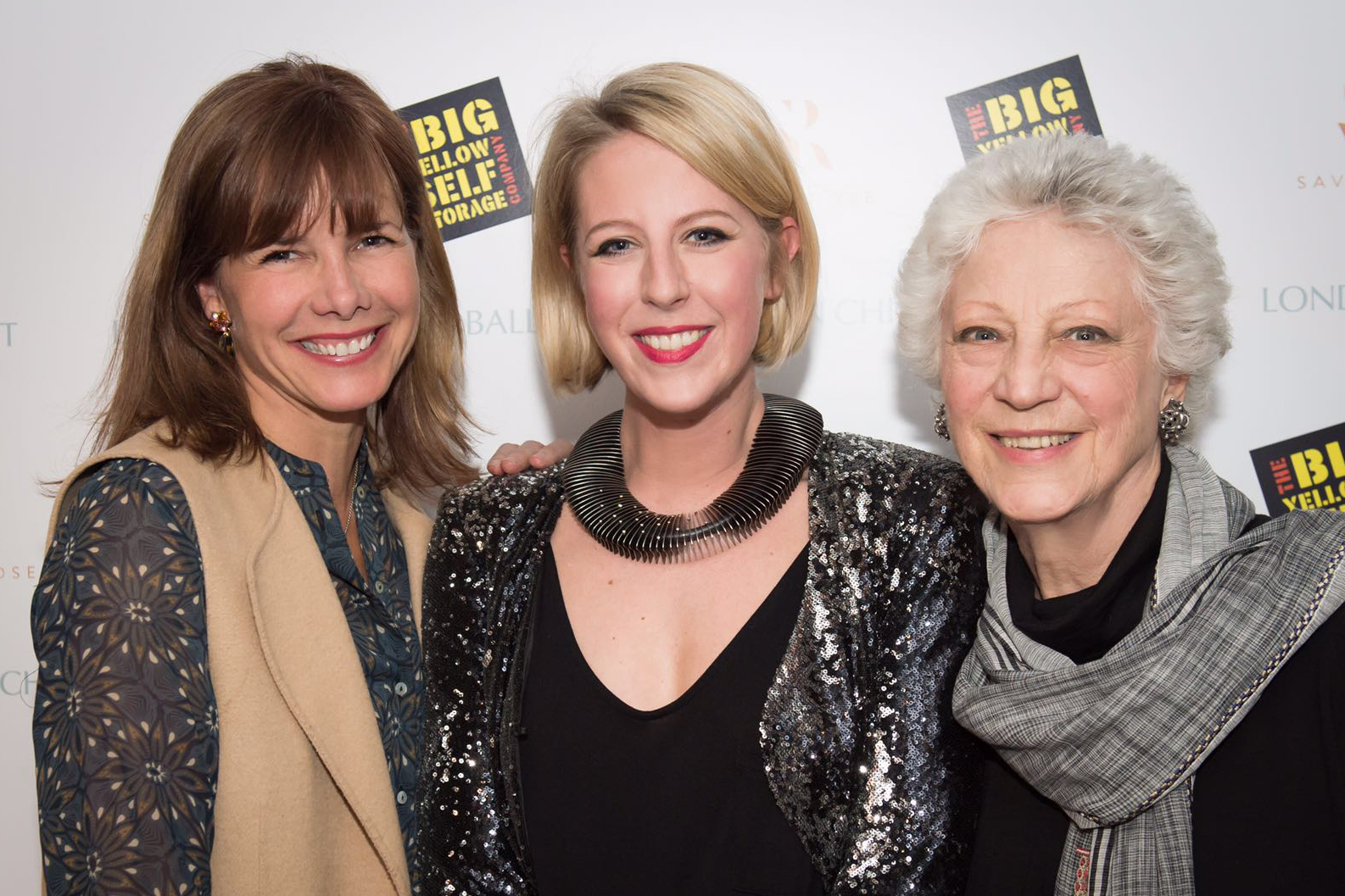 Jenna Lee at the premier of her children's ballet, Little Lord Fauntleroy.  Photographed here with ex Royal Ballet principle and Strictly Come Dancing judge, Darcey Bussell, and ex director of the Royal Ballet, Dame Monica Mason.