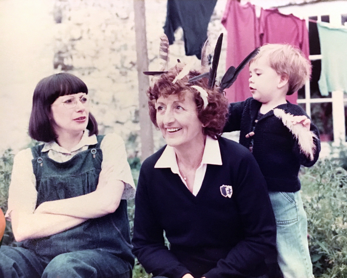 John aged 2 with Nanna and his mother.