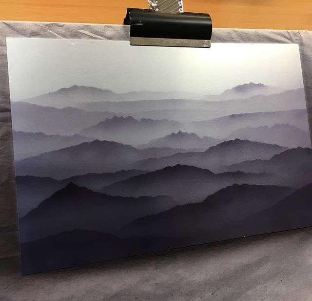 I'm having fun airbrushing a piece of anodised aluminium for a commission. The client sent me photographs of a mountain scape as inspiration for the time of blue she wanted. I thought why not colour the metal as such a see what the effect is once the pieces are made. . . @goldsmithsfair @gcdcawards @goldsmithsnorth @thegoldsmithscompany @sieraadartfair @jewellerylondon @craftscouncil #jewellery #jewelry #contemporary #art #ethereal #otherworldy #spiritual #movement #silver #goldsmithscompanyaward #craft #design #engineering #anodised #aluminium #anodized #aluminum #dye #colour #color #earrings