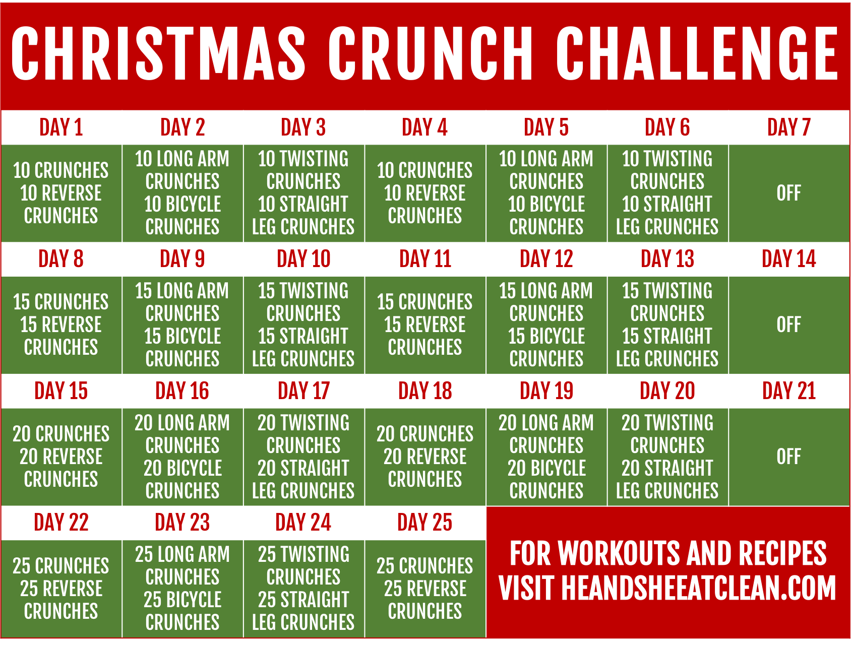 Christmas Challenge.Christmas Crunch Challenge He She Eat Clean Healthy