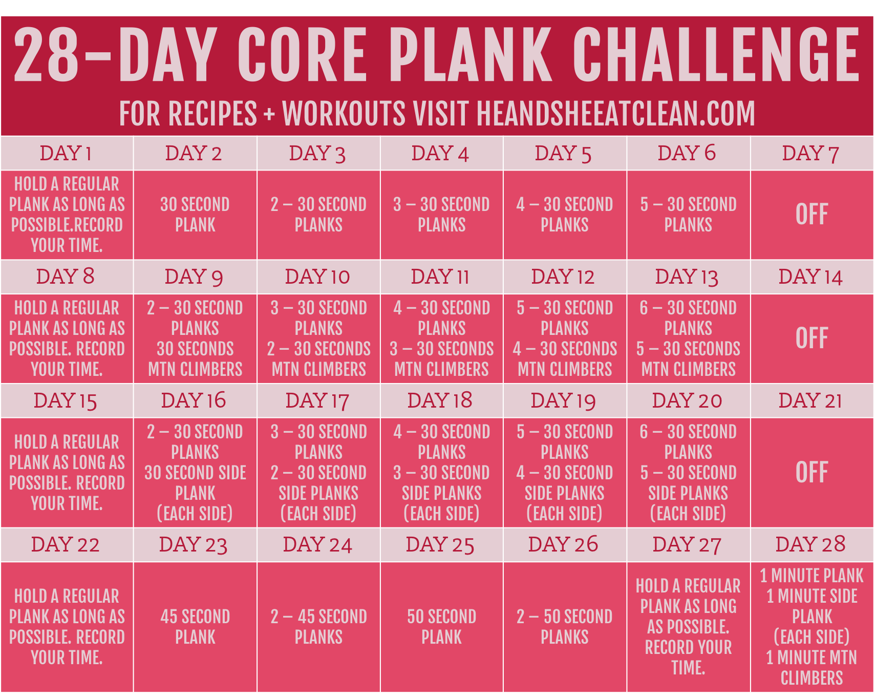 photo about Printable Plank Challenge called Website
