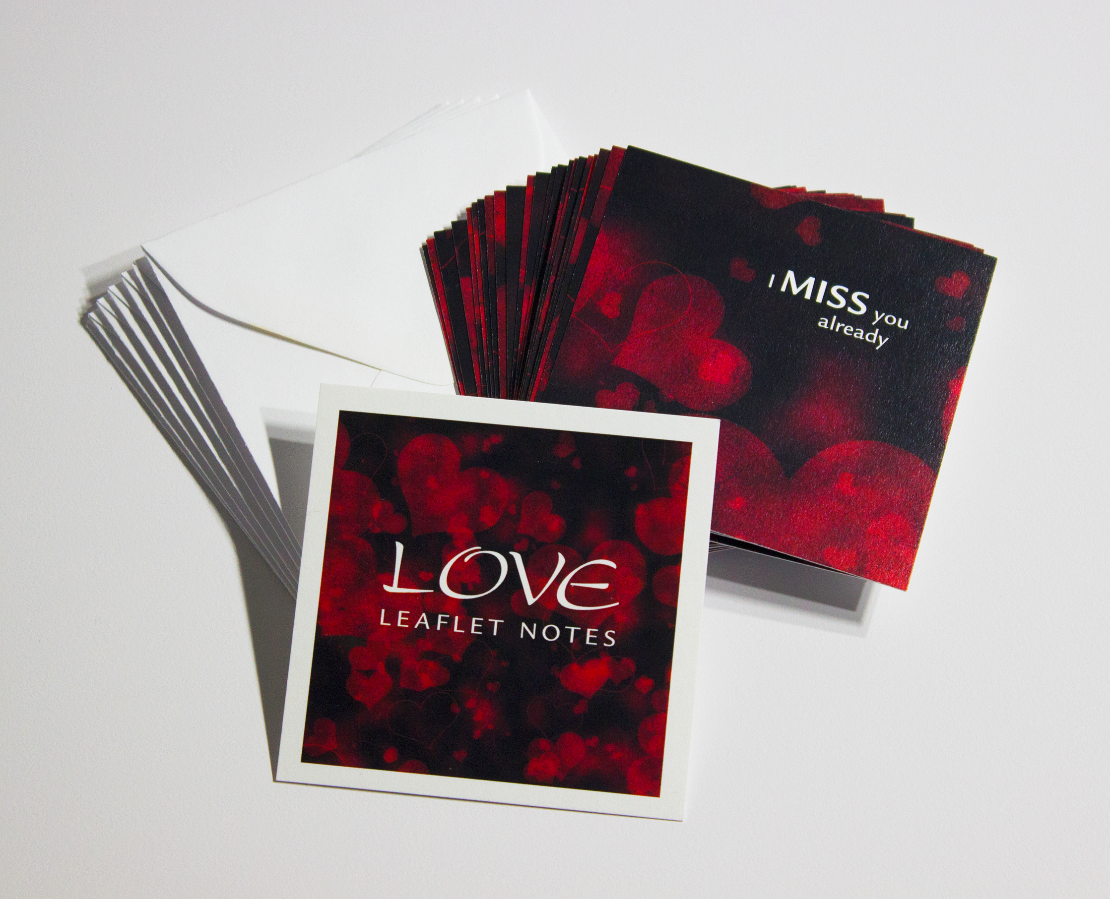 LOVE LEAFLET NOTES - $18  Like a hug and a kiss, our tiny Love LeafLet Notes are timeless messages of affection that are sure to capture the heart of someone special.