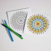 MANDALA COLORING CARDS