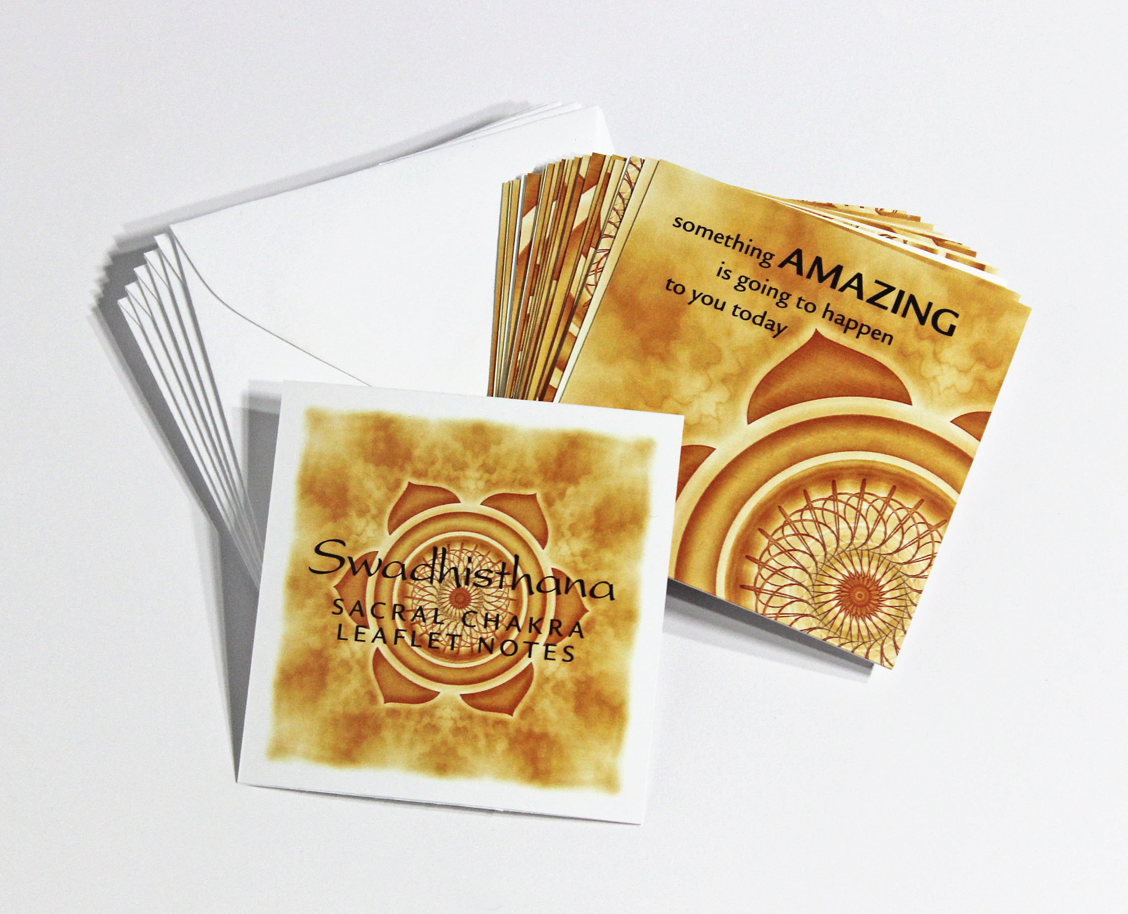 SACRAL   CHAKRA LEAFLET NOTES - $18  Connect with your emotions and experience each moment as it is, fully and deeply, with our tiny Sacral Chakra LeafLet Notes.