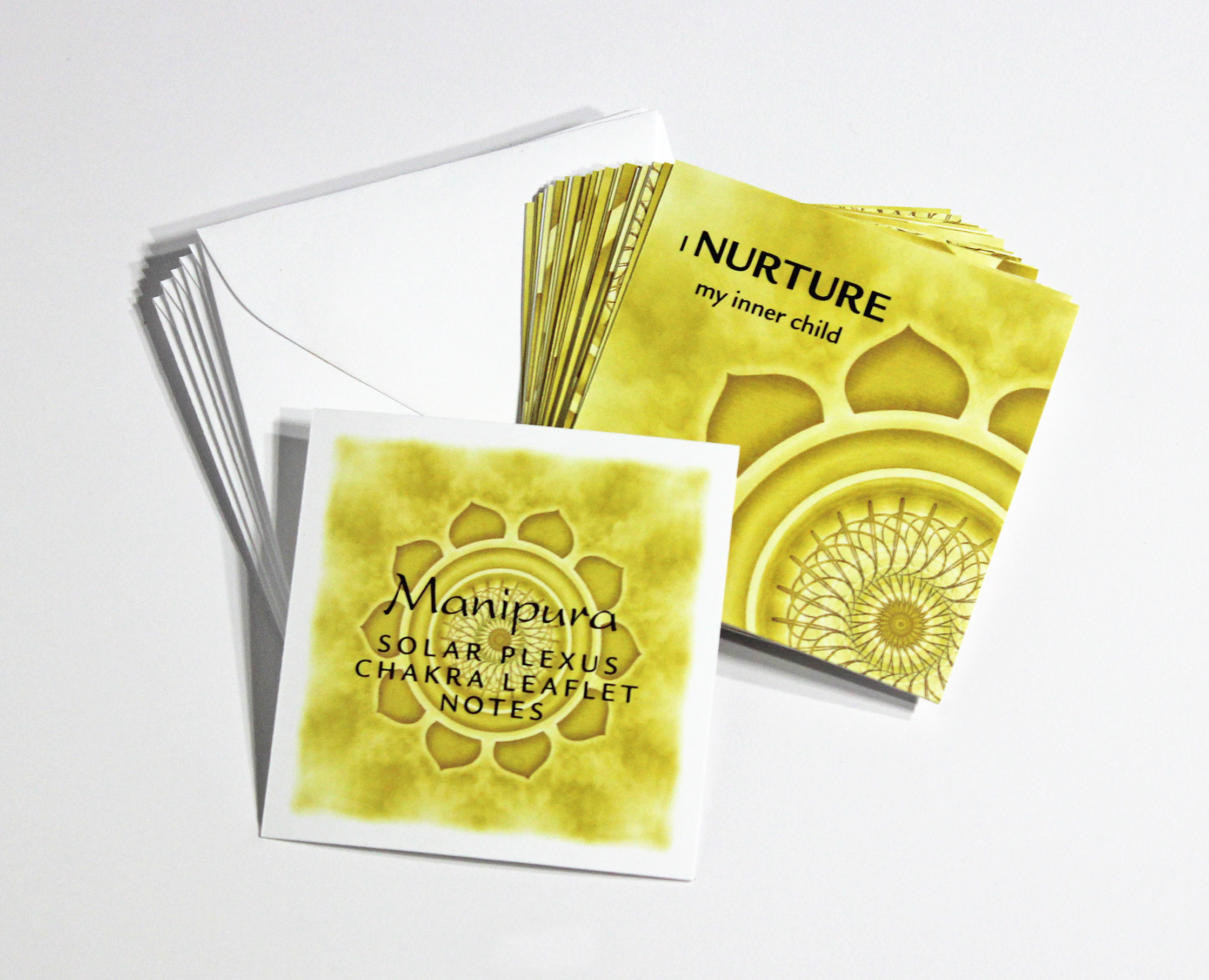 SOLAR PLEXUS   CHAKRA LEAFLET NOTES - $18  Harness your personal power and inner drive with our tiny Solar Plexus Chakra LeafLet Notes.