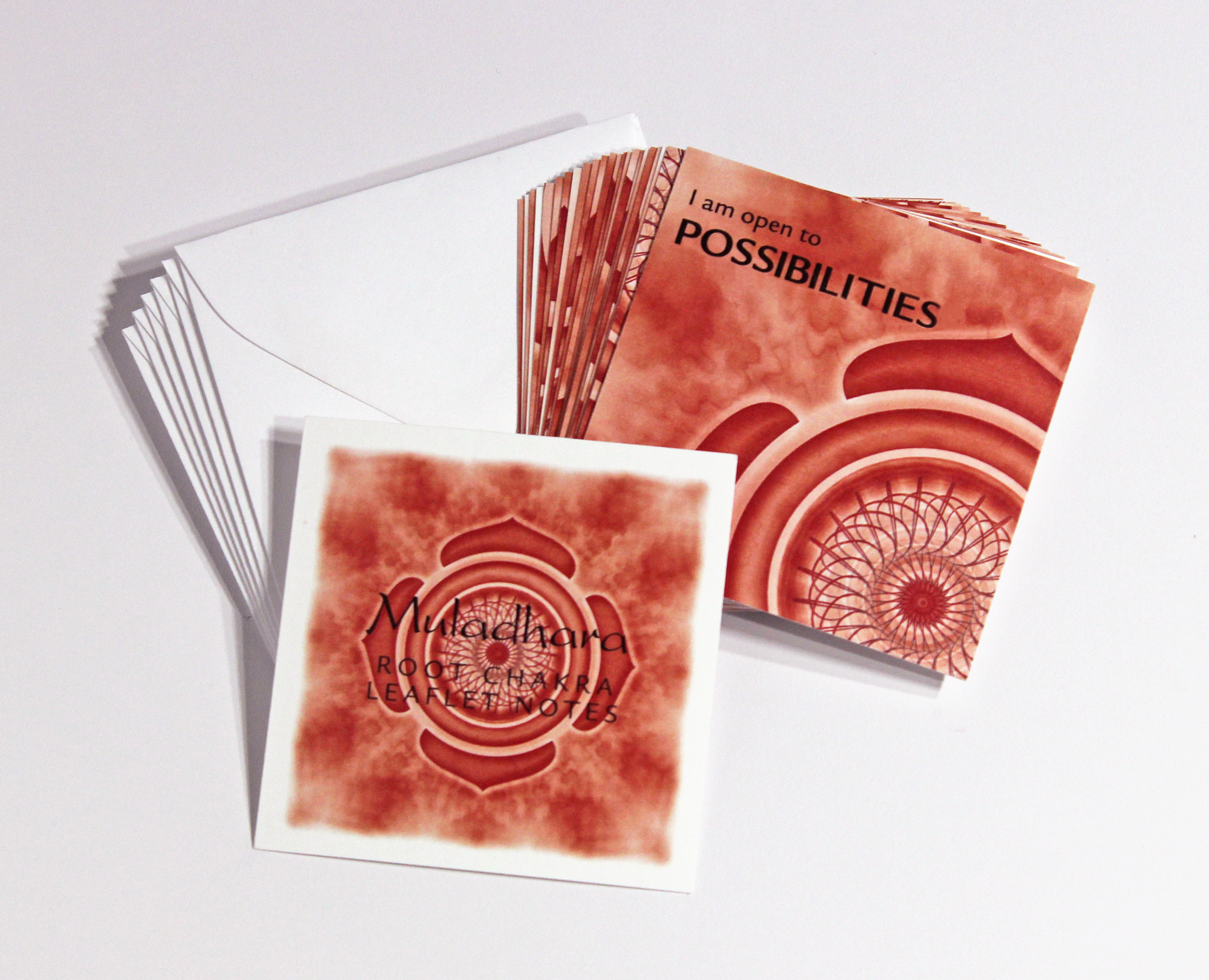 ROOT CHAKRA LEAFLET NOTES - $18  Tap into the earth's energy and develop a stronger sense of self with our tiny Root Chakra LeafLet Notes.