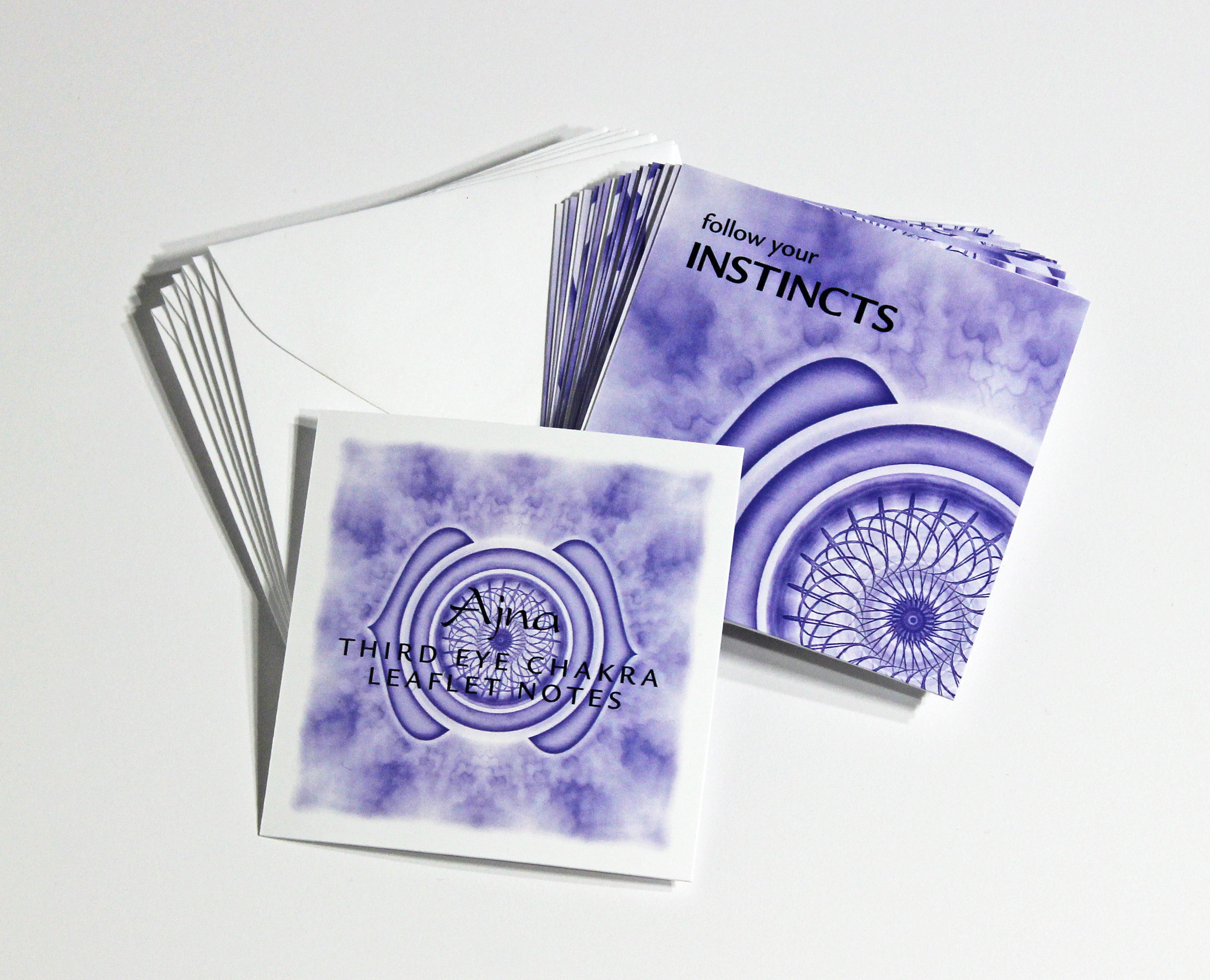 THIRD EYE   CHAKRA LEAFLET NOTES - $18  Imagine the impossible and then set out to make the impossible possible with our tiny Third Eye Chakra LeafLet Notes.