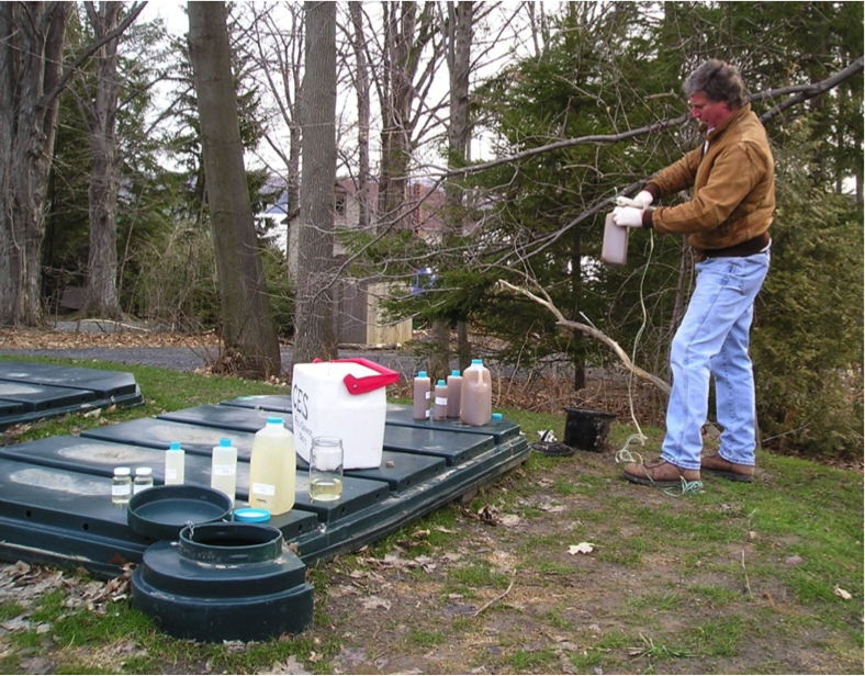 A picture of onsite sampling and analysis