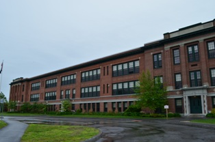The former South Portland High School, now Mahoney Middle School, South Portland,  Photo by Greater Portland Landmarks