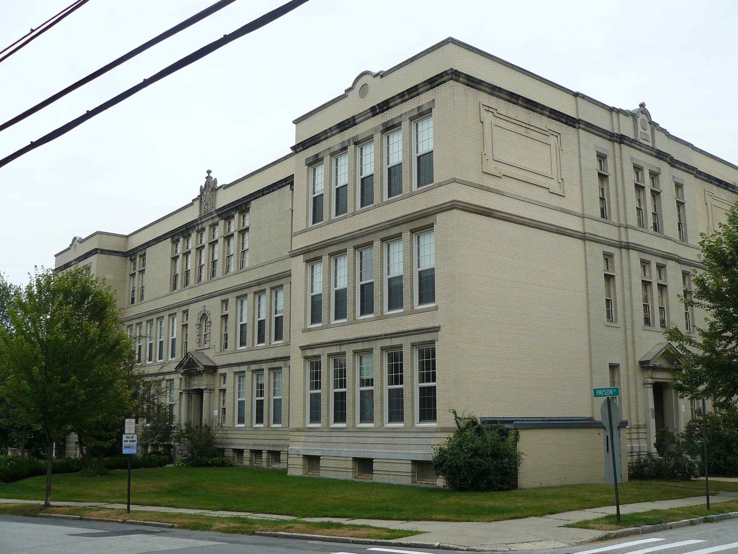 Nathan Clifford School, Falmouth Street, Portland,  Photo by Greater Portland Landmarks