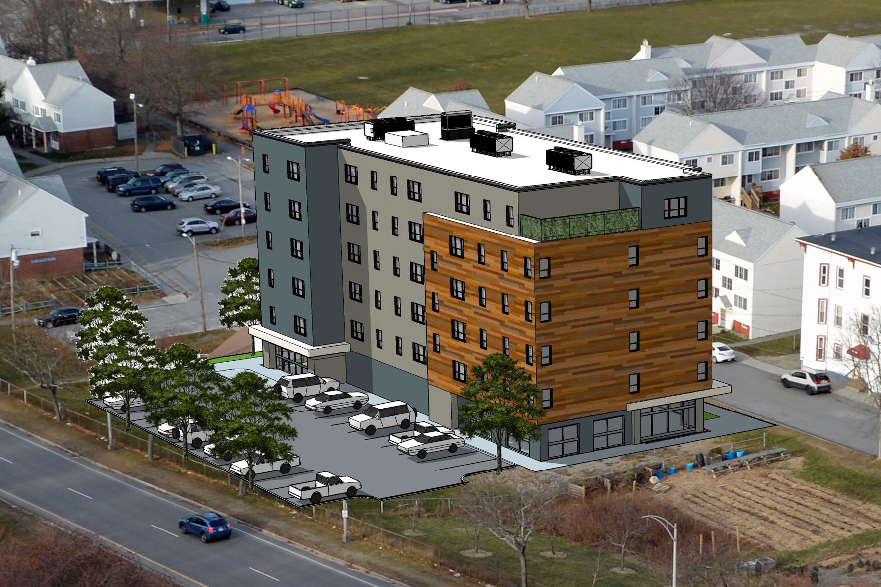 58 Boyd Street - Portland Housing Authority has plans for 55 new apartments in East Bayside.