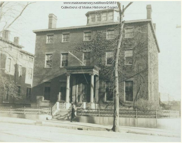 St. Elizabeth's Home at 87 High Street, ca. 1920 (courtesy Maine Historical Society)