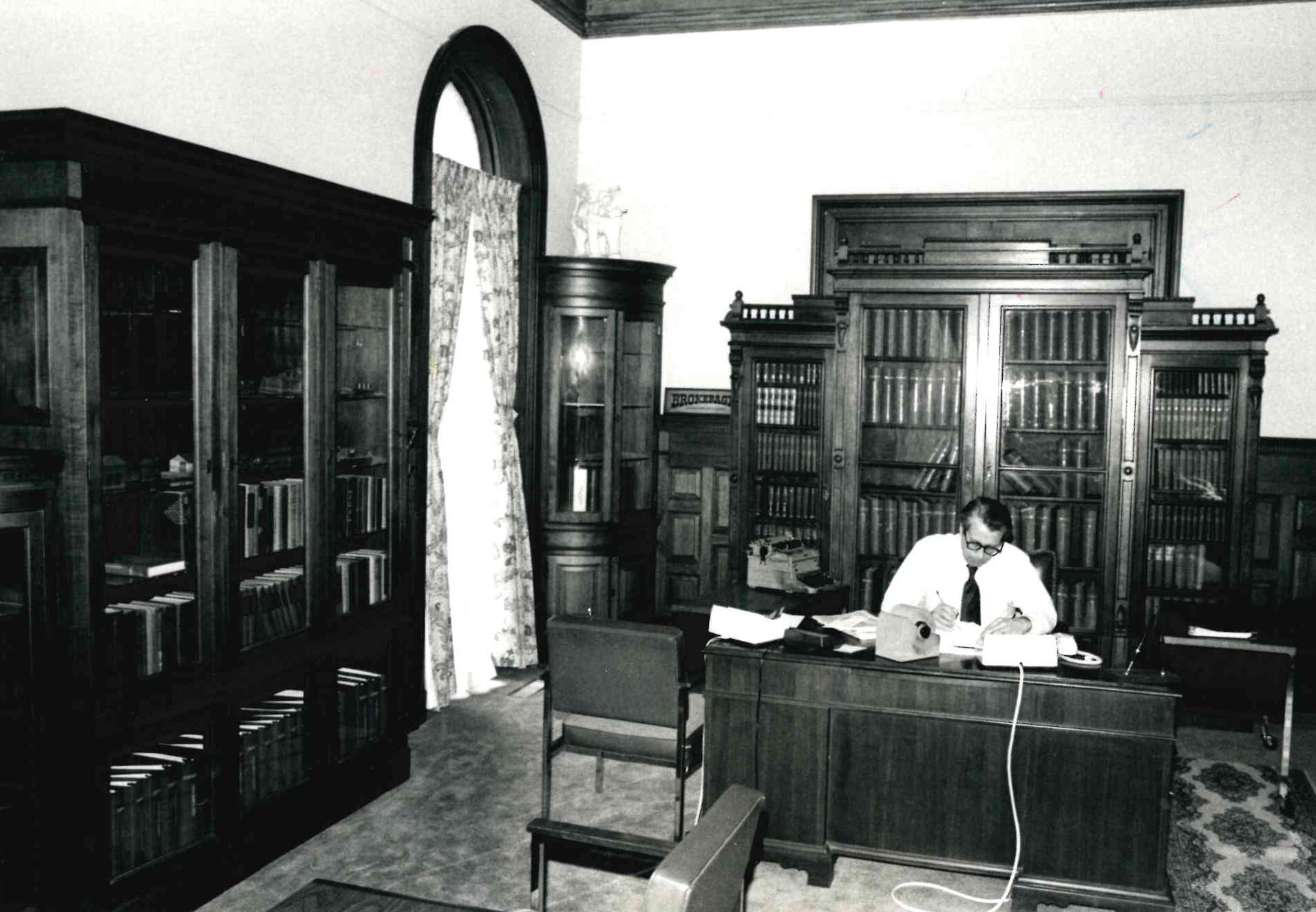 Safford House first floor in 1984