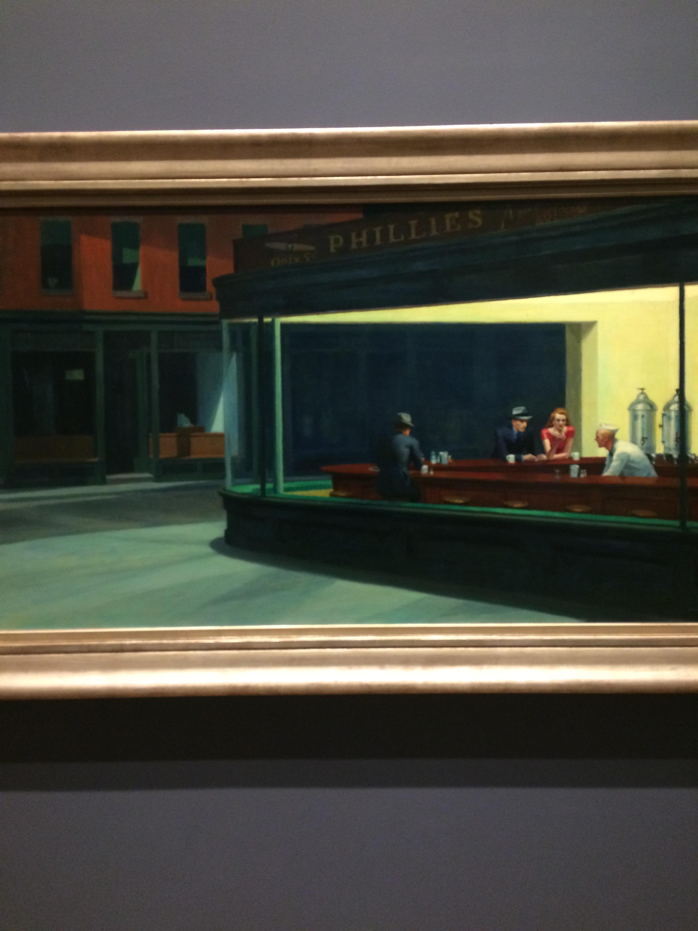 """#1: Edward Hopper's """"Nighthawks"""""""