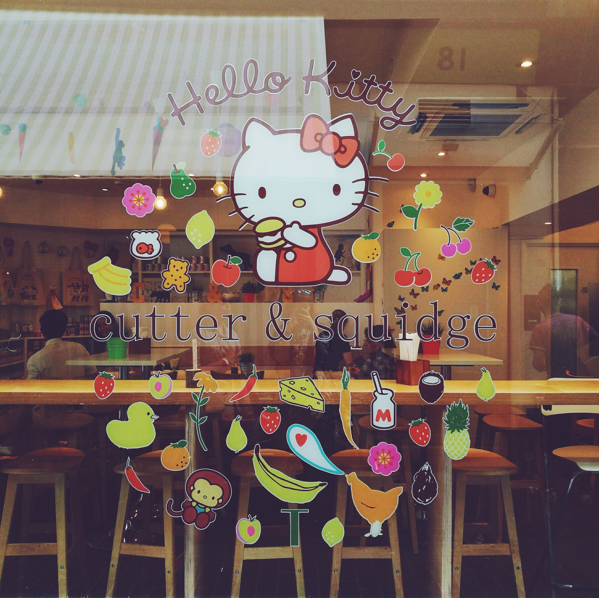 Hello Kitty Cafe is so cute!