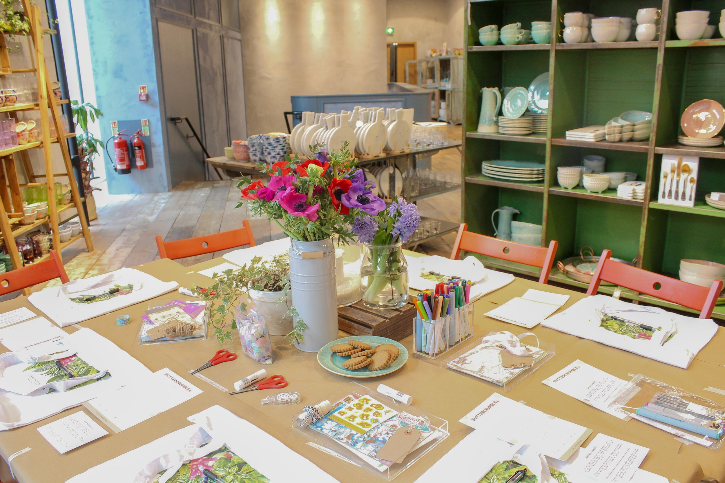 Buttercrumble Happy Mail Workshop at Anthropologie