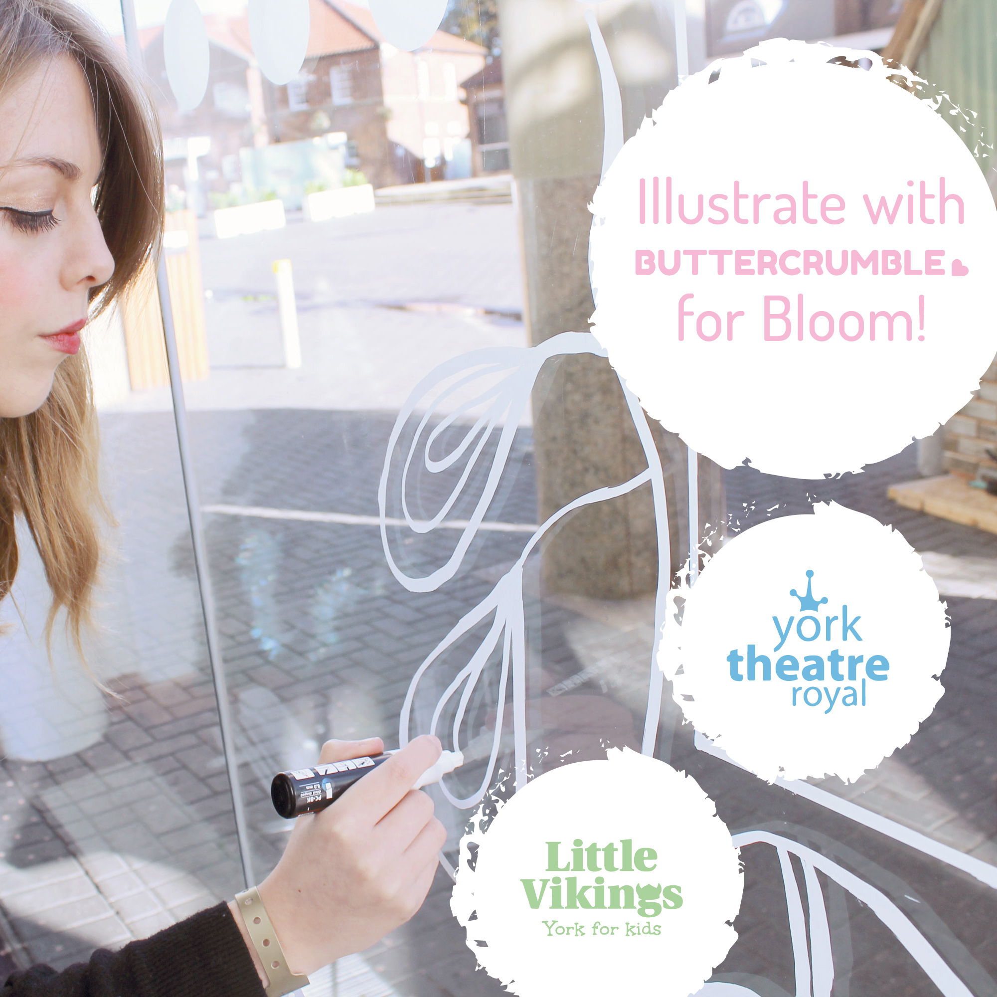 Buttercrumble York Bloom! Illustrators Illustration