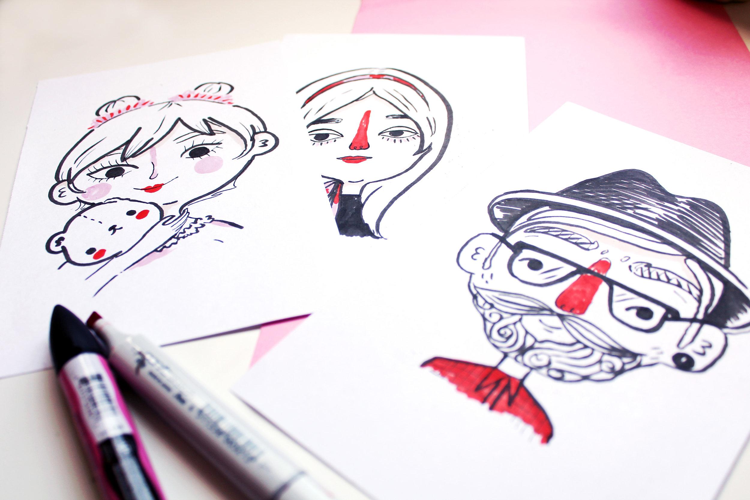 Live Illustration Portrait by Buttercrumble