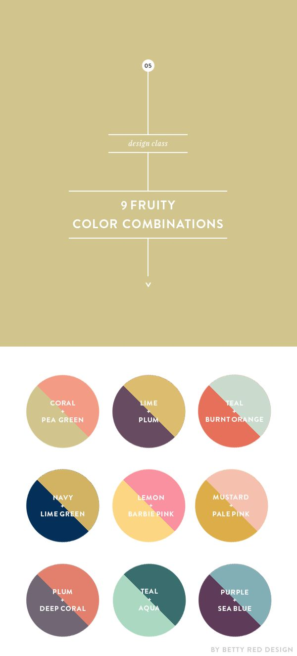 9 fruity color combinations