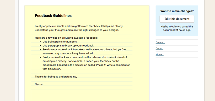 feedback guidelines