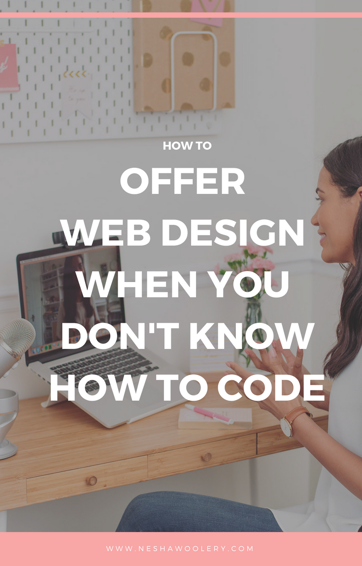 The wonderful Krista Rae, a strategic Wordpress developer is here to share the best tips on how to offer web design services when you DON'T know how to code. Click on this pin now for coding tips you never knew you needed. #Coding #Design, #Webdesign, #Freelance, #Guest Post, #Business, #Tips