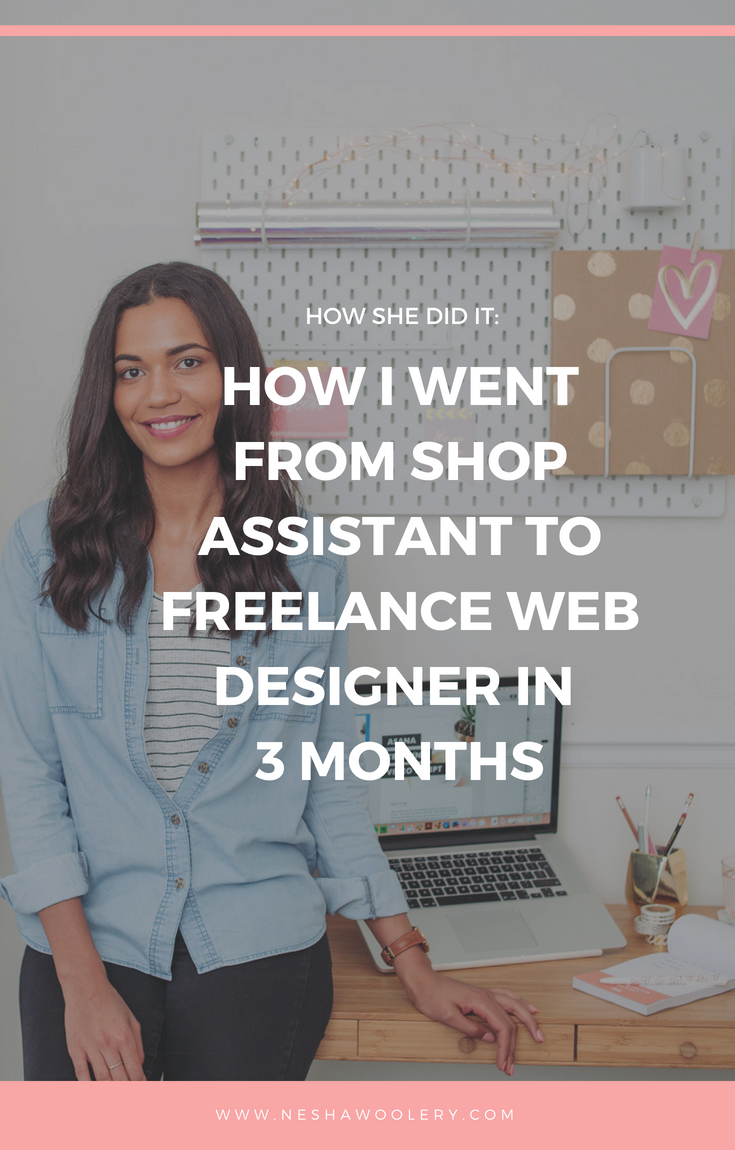 If you're going to read my blog posts every week, I want you to know who they're from. I want you to know about my past, my journey as a designer and how I can help you. Click on this pin to learn more about me Nesha and the journey of being a freelance designer. #Freelance, #Start Freelancing, #Business, #Designer, #Girlboss, #Inspire, #Motivation, #Chaseyourdreams #Slay
