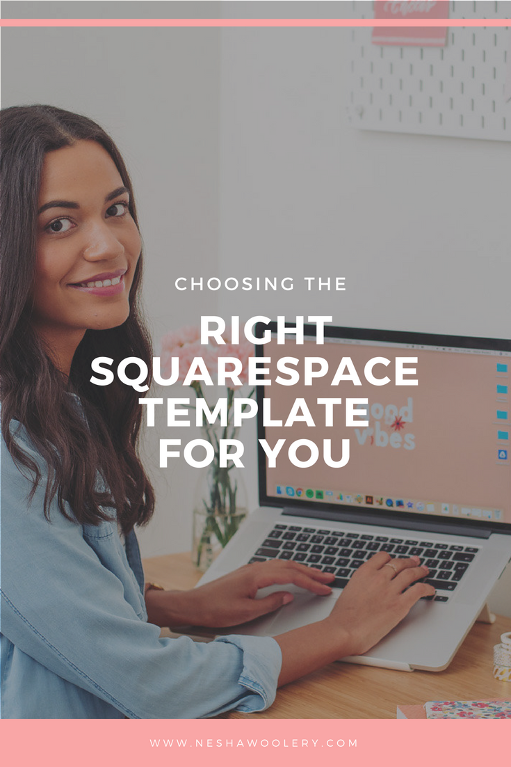 Click on this pin to find out 2 steps to choosing the right Squarespace template for you. #Squarespace #Templates #Business #Freelance #Design #Website