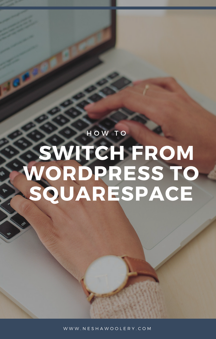 A lot of people say that switching from Wordpress to Squarespace is difficult. Well... I'm here to prove that statement wrong by showing you guys a really simple process of switching from Wordpress to Squarespace. Don't believe me? Click on this pin to find out how to make the switch now!