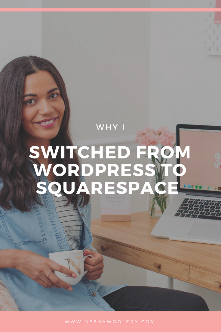 Click on this pin to find out why I made the decision to switch from Wordpress to Squarespace and no it's not because it's better but something much more. Find out what that 'much more' is now! #Business #Design #Sqaurespace #Wordpress, #Web Design