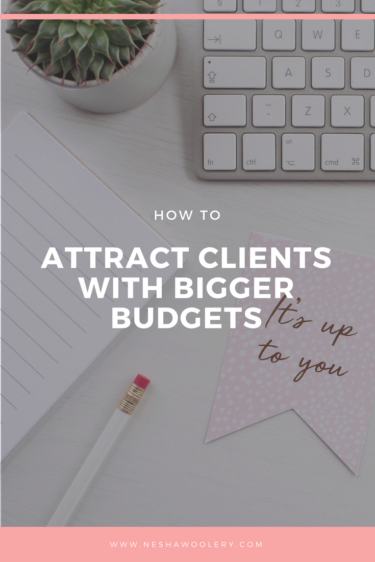 Do you feel like you can justify quitting your (well paid) day job when you can't find clients who can afford you or you've already quit and you're struggling to make a decent income from freelancing . Well if you're answer is yes then you need to click on this pin right now to find out how to attract clients with bigger budgets. #Business #Client #Marketing #Design #Freelance #Income #Financial