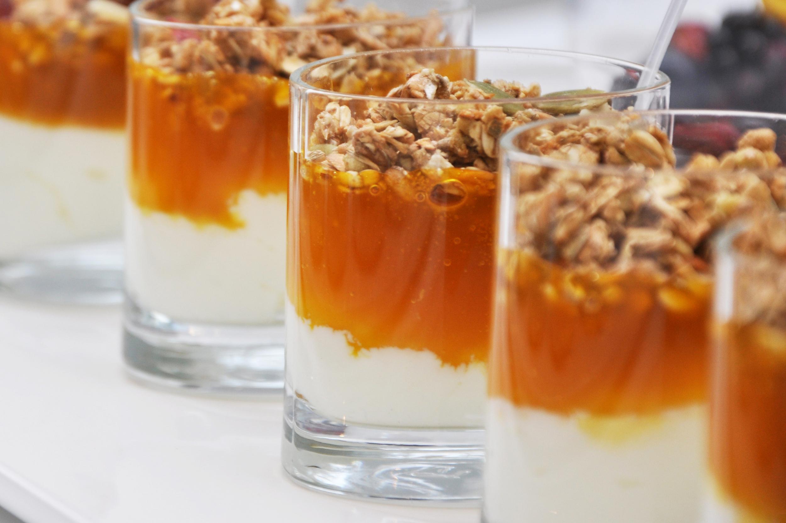 Organic yoghurt, passion fruit puree & homemade granola mini pots web.jpg
