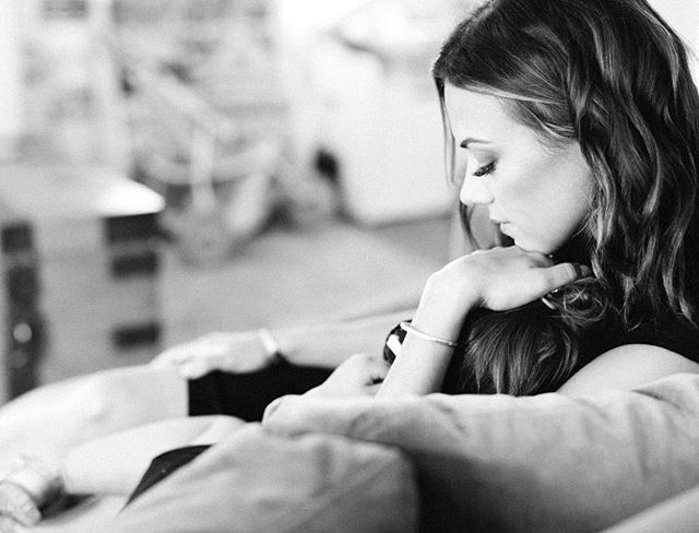 "I wanted to share this sneak peek of a moment that I LOVED from yesterday's shoot.  The moment little Jolie snuggled up to her mom, (@kramergirl) she just relaxed into her and I thought, ""We all want that person that lets you just relax into them and let's you feel like everything's going to be okay"". Who's that person for you? 👗@royalandreese 💄@emmawillismakeup"