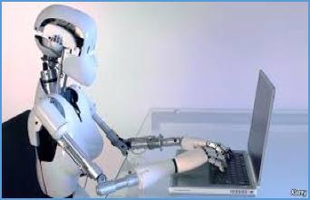 robot on computer