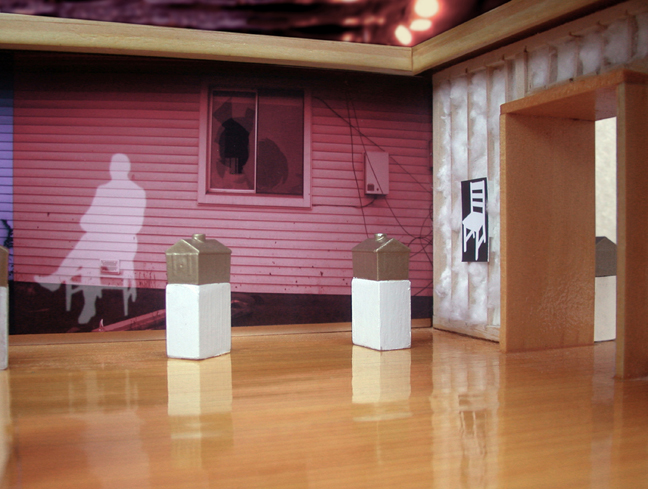 Installation view, John Feodorov, dead houses, 2007.