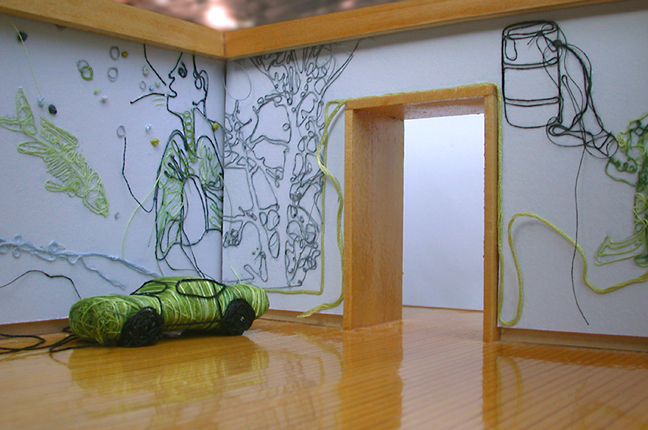 Installation view, Bethany Taylor, Emissions and Remissions, 2006.