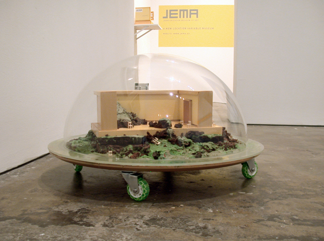 Installation view, Kristin Lucas, Outside, 2007.