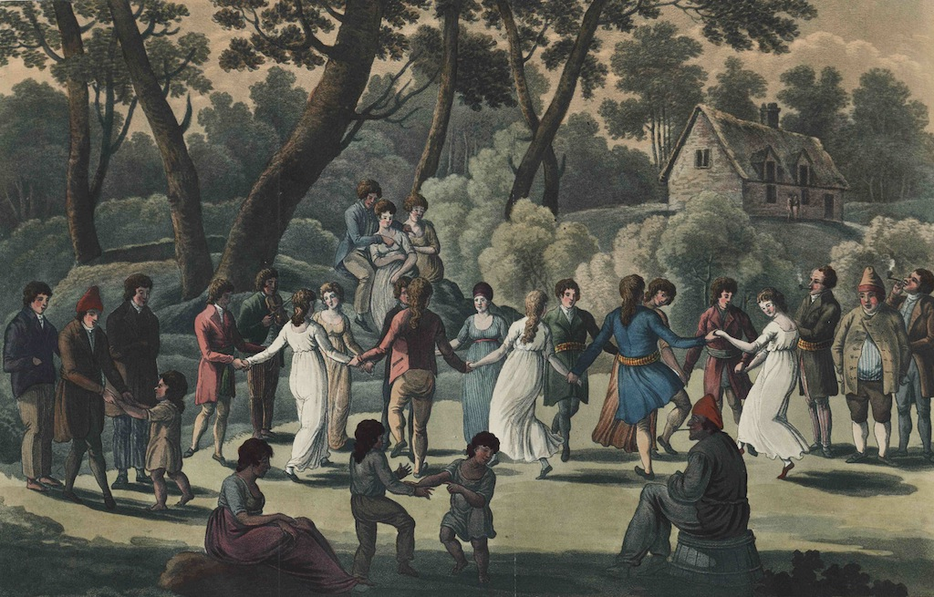 """La Danse Ronde – Circular Dance of the Canadians"" (George Heriot, 1807)"