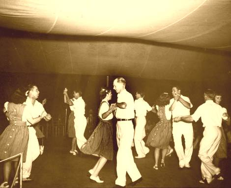 Bent Creek Square Dance Team at the Mountain Dance and Folk Festival, Asheville, NC (c. 1942)