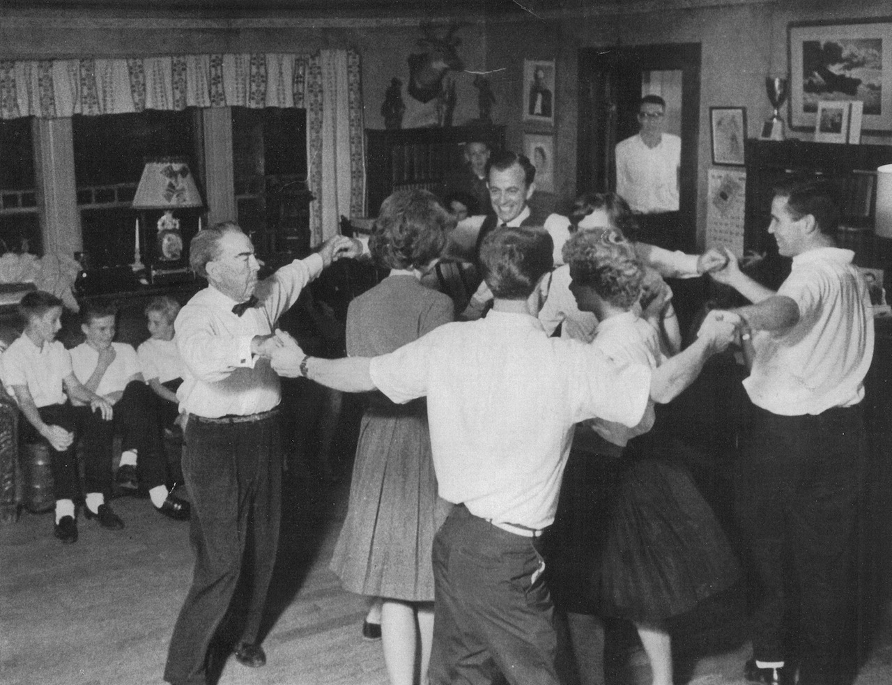 Square Dance at Bascom Lamer Lunsford's home in Madison County, NC (1960s)  The Ring Shout and the Cakewalk