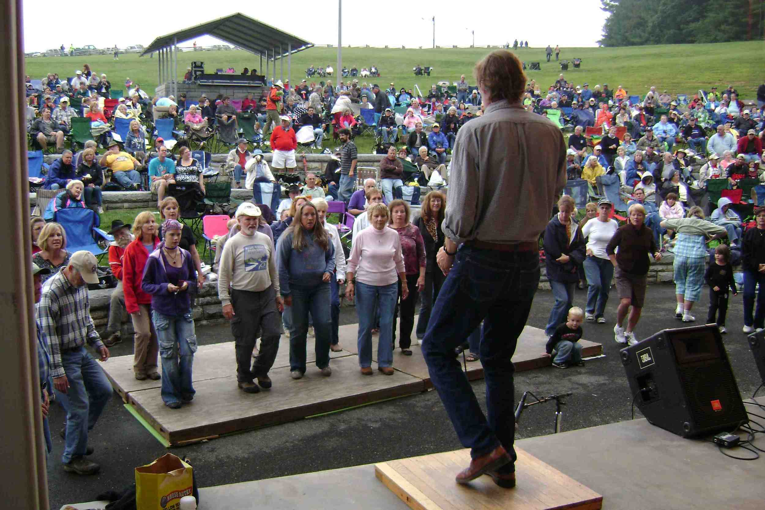 Flatfooting workshop at the Blue Ridge Music Center, Galax VA (2010)
