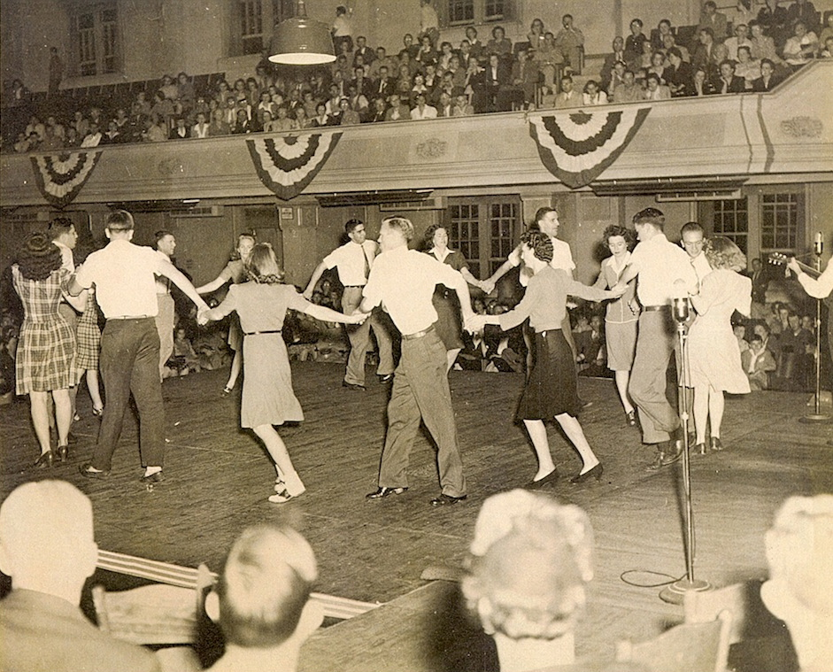 Soco Gap Square Dance Team at the Mountain Dance and Folk Festival in Asheville, NC (1940s) (photo courtesy: Joe Sam Queen)